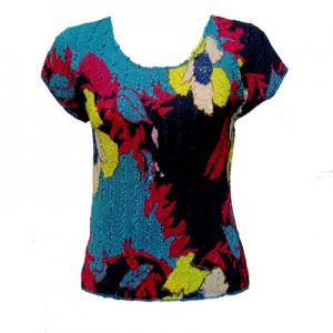wholesale Overstock and Clearance Tops Magic Crush Cap Sleeve Tops - Cukoo Blue (#234A) -
