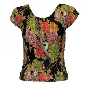 wholesale Overstock and Clearance Tops Magic Crush Cap Sleeve Tops - Floral Bouquet - S-L