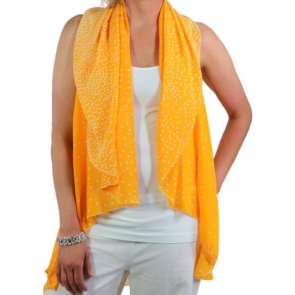 wholesale Overstock and Clearance Tops Chiffon Vest Polka Dot Orange-White - One Size Fits All