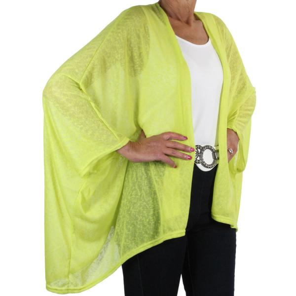 wholesale Overstock and Clearance Tops Kimono - Gauze Jersey 8267 Lemon - One Size Fits All