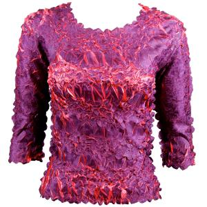 wholesale Overstock and Clearance Tops Origami Three Quarter Sleeve Purple-Coral - S-XL