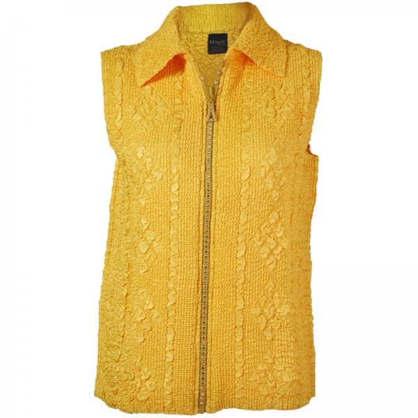 wholesale Overstock and Clearance Tops Diamond Zipper Vests - Yellow - One Size Fits  (S-L)