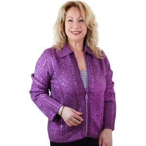 wholesale Overstock and Clearance Tops Diamond Zipper Jackets - Iris - One Size (S-L)