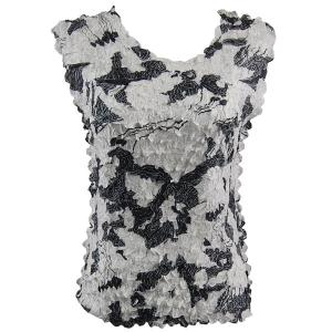 wholesale Overstock and Clearance Tops Petal Sleeveless - African White-Black - Plus Size (XL-2X)