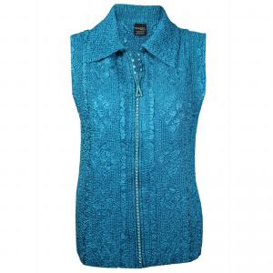 wholesale Overstock and Clearance Tops Diamond Zipper Vest - Mallard Green - S-L