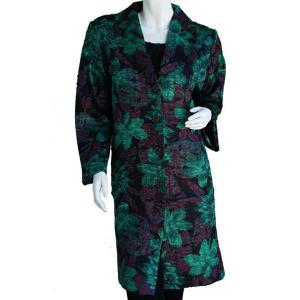 wholesale Satin Crushed Car Coat * Floral - Black-Rust-Green - S-L