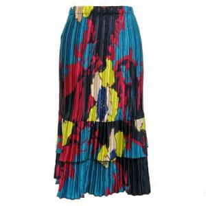 wholesale Overstock and Clearance Skirts, Pants, & Dresses  Satin Mini Pleat Tiered Skirt - Cukoo Blue - S-XL