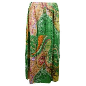 wholesale Overstock and Clearance Skirts, Pants, & Dresses  Skirts - Magic Crush - Satin / Swirl Green-Gold - S-XL
