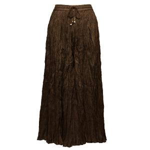 wholesale Overstock and Clearance Skirts, Pants, & Dresses  Skirts - Long Cotton Broomstick with Pocket / Solid Dark Brown - S-XL