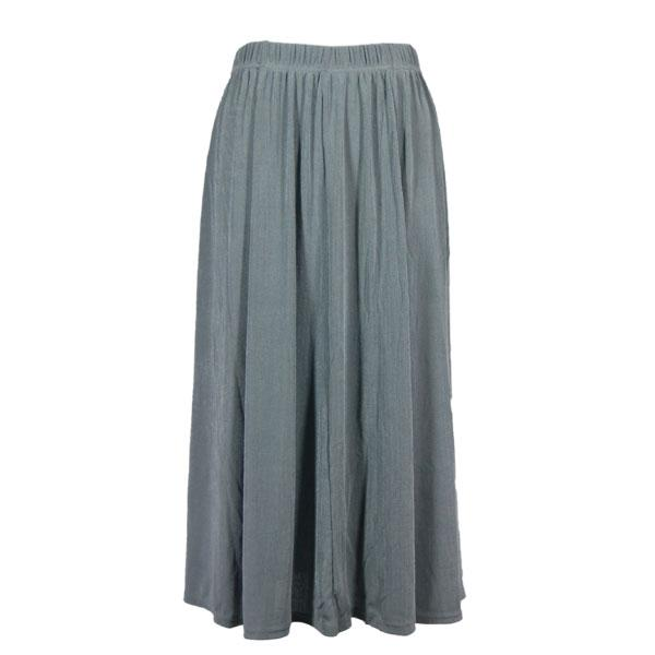 wholesale Overstock and Clearance Skirts, Pants, & Dresses  Magic Slinky Skirts - Solid Silver - S-2X