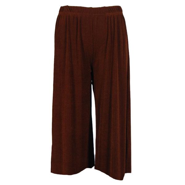 wholesale Overstock and Clearance Skirts, Pants, & Dresses  Magic Slinky Capris - Brown - S-L