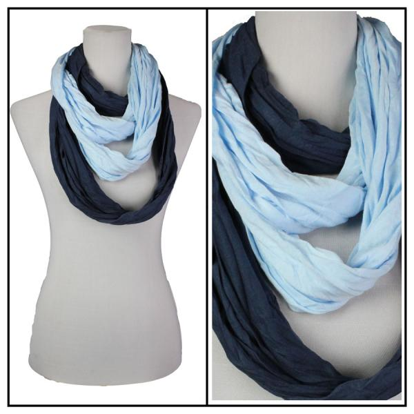 wholesale Overstock and Clearance Scarves & Accessories  Double Infinity Scarf - Blue-Navy - One Size Fits All