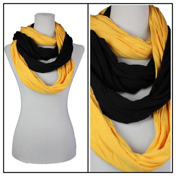 wholesale Overstock and Clearance Scarves & Accessories  Double Infinity Scarf - Gold-Black - One Size Fits All
