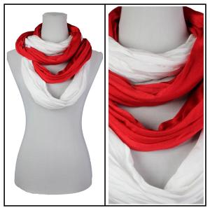 wholesale Overstock and Clearance Scarves & Accessories  Double Infinity Scarf - Red-White - One Size Fits All