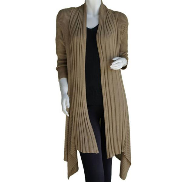 wholesale Magic Convertible Ribbed Sweater  Gold - One Size Fits (S-L)