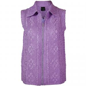 Wholesale  Light Orchid Diamond Zipper Vest - One Size Fits (S-L)