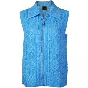 Wholesale  Azure Diamond Zipper Vest - One Size (S-L)