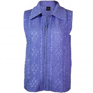 Wholesale  Violet Diamond Zipper Vest - One Size (S-L)