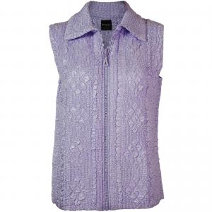 Wholesale  Light Lilac Diamond Zipper Vest - One Size Fits (S-L)