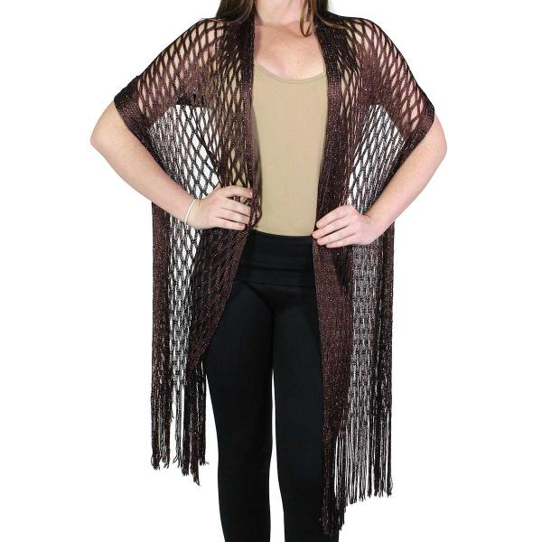 Shawls - Metallic Fishnet 0636 Brown -