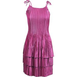 Wholesale  Solid Orchid Satin Mini Pleat - Spaghetti Dress -