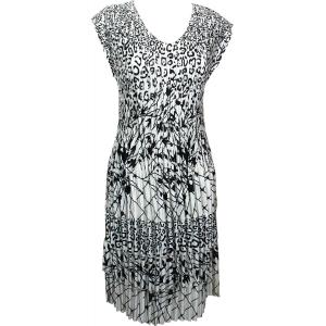 wholesale Satin Mini Pleats - Cap Sleeve Dress Abstract Animal-Linear - One Size (S-XL)