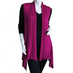 wholesale Magic Convertible Ribbed Sweater Vest  Magenta - One Size (S-L)