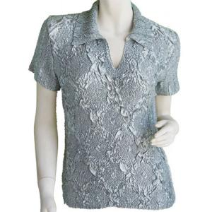 wholesale Magic Crush Diamond Short Sleeve w/ Collar * Charcoal - One Size (S-L)