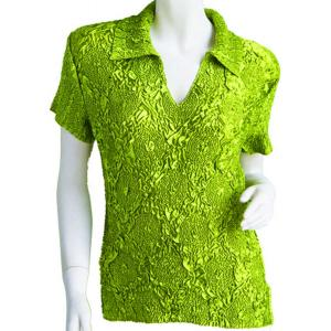 wholesale Magic Crush Diamond Short Sleeve w/ Collar * Lime - One Size (S-L)
