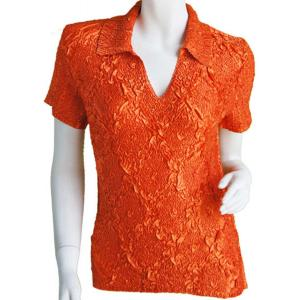 wholesale Magic Crush Diamond Short Sleeve w/ Collar * Orange - One Size (S-L)