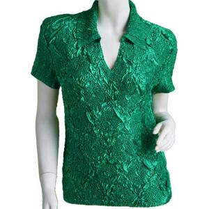 wholesale Magic Crush Diamond Short Sleeve w/ Collar * Green - One Size (S-L)