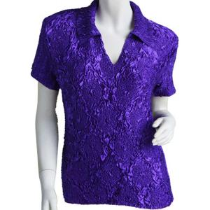 wholesale Magic Crush Diamond Short Sleeve w/ Collar * Purple - One Size (S-L)