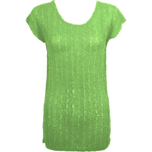 Magic Crush Georgette - Cap Sleeve Tunic* Solid Lime - One Size  Fits (S-M)