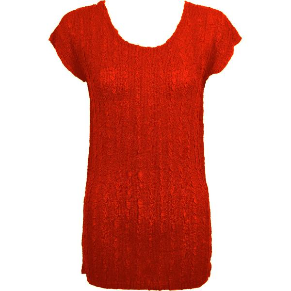 Magic Crush Georgette - Cap Sleeve Tunic* Solid Red - One Size  Fits (S-M)