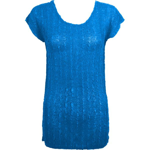 Magic Crush Georgette - Cap Sleeve Tunic* Solid Cornflower Blue  - One Size  Fits (S-M)