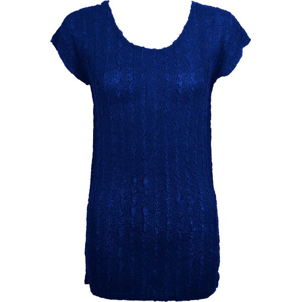 Magic Crush Georgette - Cap Sleeve Tunic* Solid Royal  - One Size  Fits (S-M)