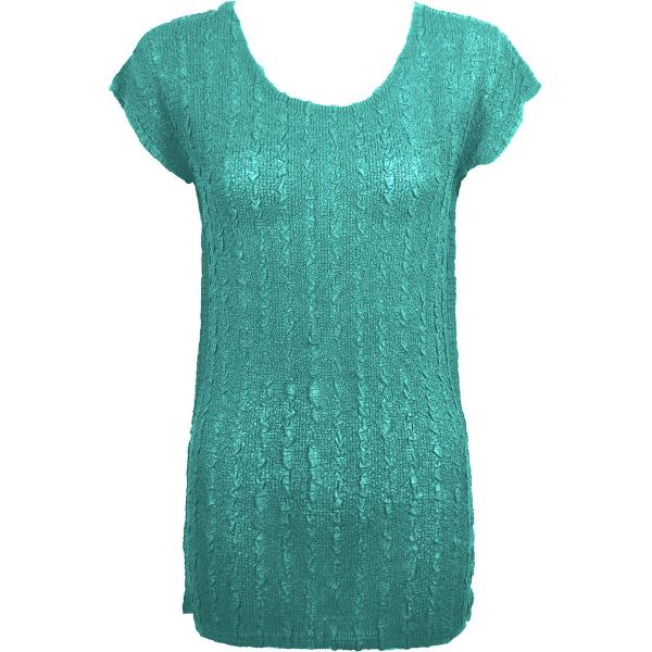 Magic Crush Georgette - Cap Sleeve Tunic* Solid Seafoam  - One Size  Fits (S-M)