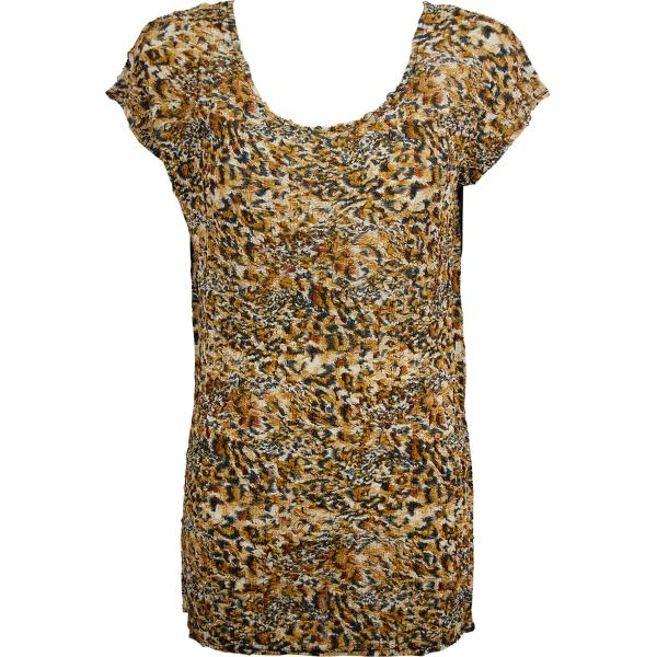 Magic Crush Georgette - Cap Sleeve Tunic* Leopard Print - One Size  Fits (S-M)