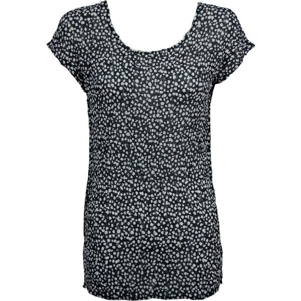 Magic Crush Georgette - Cap Sleeve Tunic* Polka Dot Black-White - One Size  Fits (S-M)