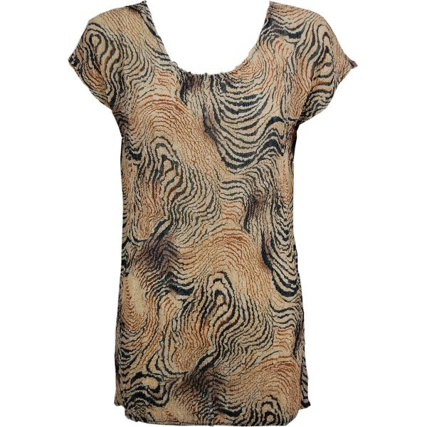 Magic Crush Georgette - Cap Sleeve Tunic* Swirl Animal - ONE SIZE FITS  L-XL)
