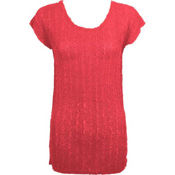 Magic Crush Georgette - Cap Sleeve Tunic* Solid Coral  - ONE SIZE FITS (L-XL)