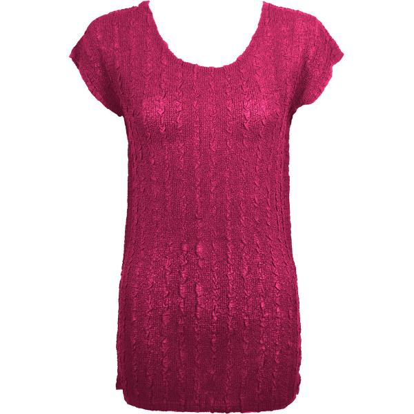 Magic Crush Georgette - Cap Sleeve Tunic* Solid Magenta  - ONE SIZE FITS  L-XL)