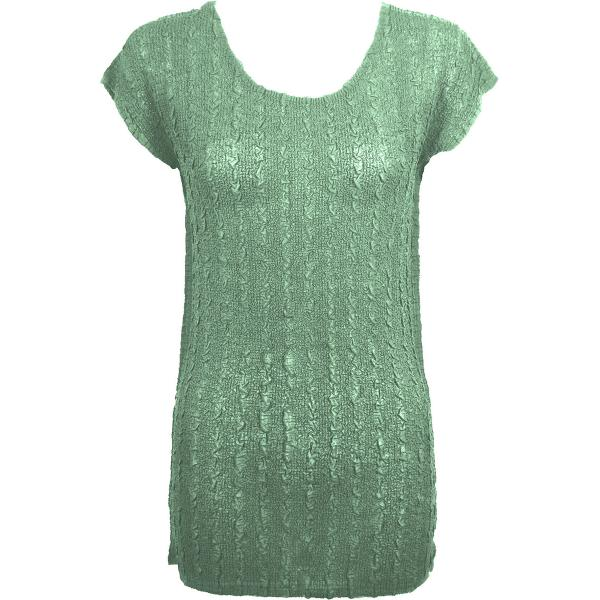 Magic Crush Georgette - Cap Sleeve Tunic* Solid Light Moss  - ONE SIZE FITS  L-XL)