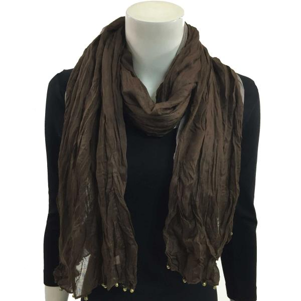 wholesale Oblong Scarves - Two Ply 1336* Brown-Taupe -