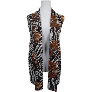 wholesale Slinky TravelWear Vest* Zebra Floral - Brown - One Size Fits All