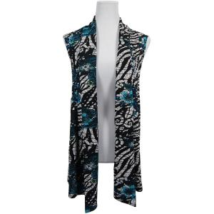 wholesale Slinky TravelWear Vest* Zebra Floral - Teal - One Size Fits All