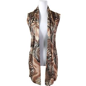 wholesale Slinky TravelWear Vest* Swirl Animal - Beige - One Size Fits All