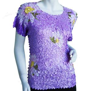 wholesale Satin Petal Shirts - Cap Sleeve & Sleeveless Variegated Violet - One Size (S-XL)