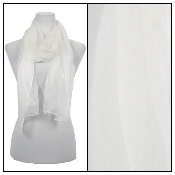wholesale Oblong Scarves - Silk Ombre 005* Solid Ivory -