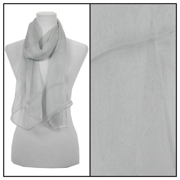 wholesale Oblong Scarves - Silk Ombre 005* Solid Grey -